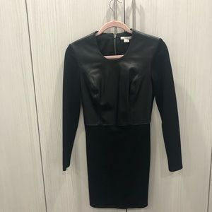 Black leather dress by Helmut Lang
